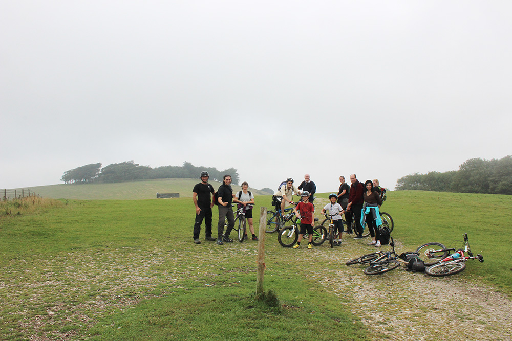 Group after slog up the hill